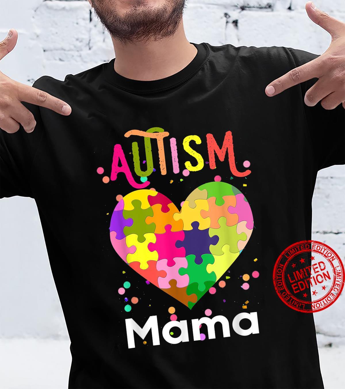 Autism Awareness Mama Bear Support Autistic Autism Mom Shirt