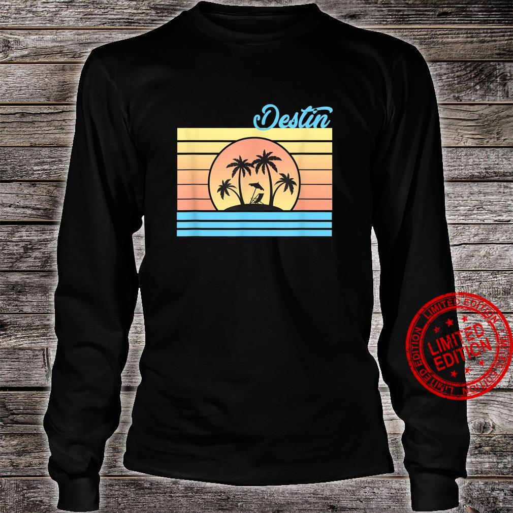 Destin Florida Vacation Travel Holiday Souvenir Shirt long sleeved