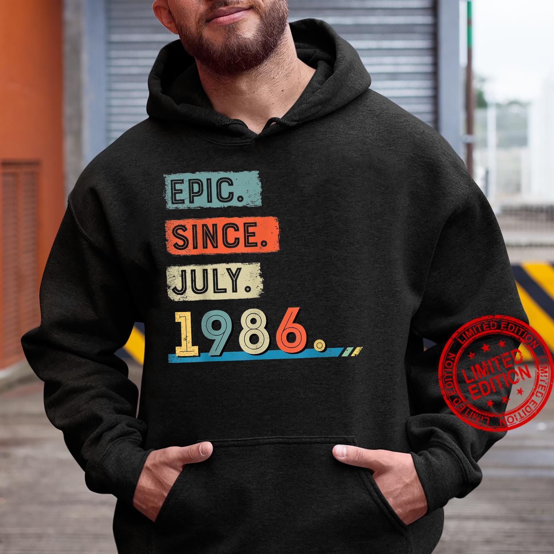 Epic Since July 1986 35th Birthday Shirt Shirt hoodie