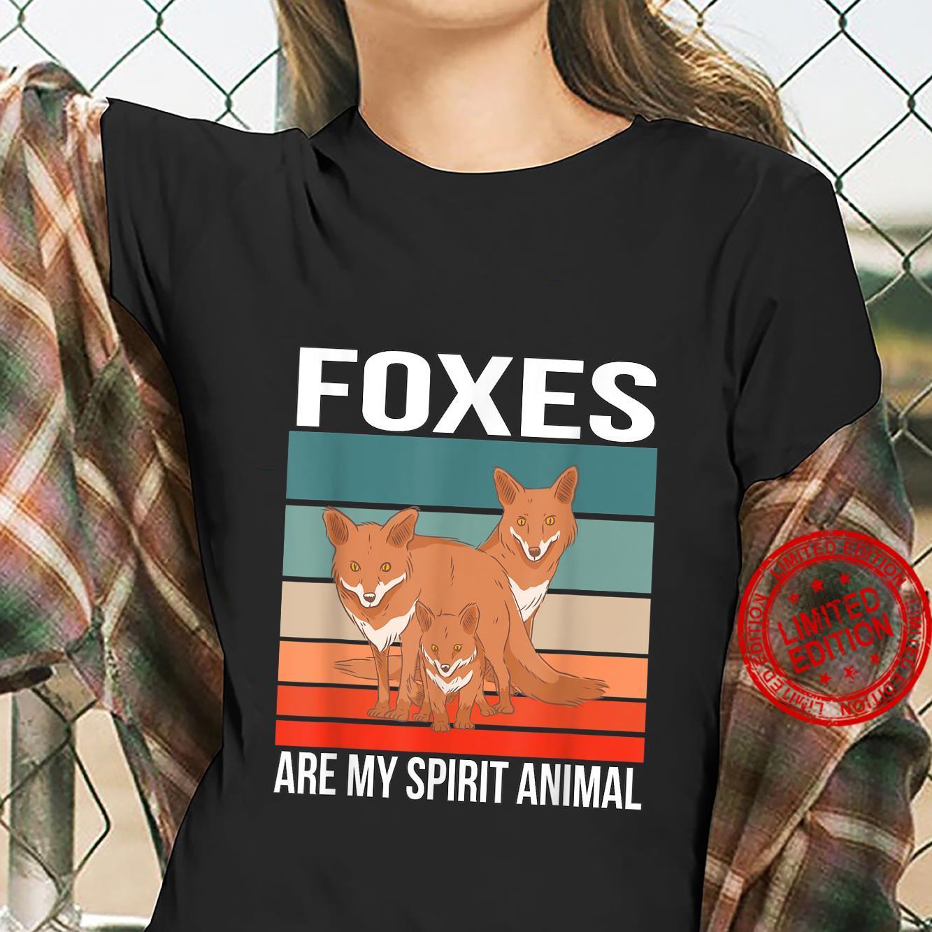 Foxes Are My Spirit Animal Red Fox Fox Shirt ladies tee
