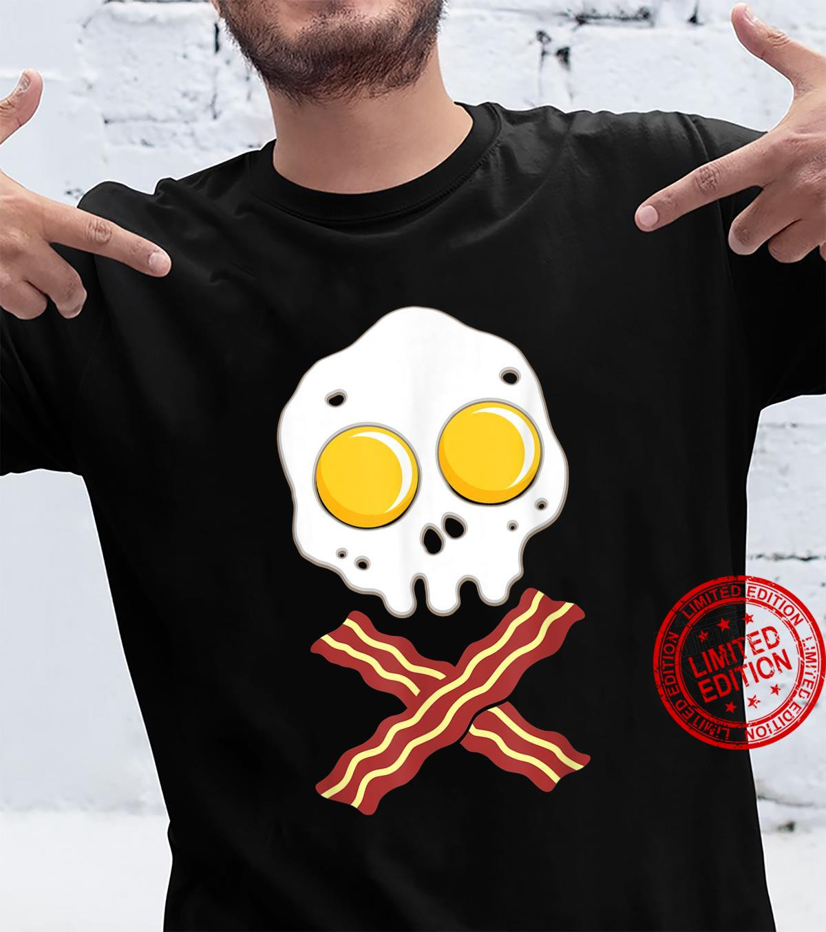 Fried Egg With Bacon Skull Bone Food Shirt