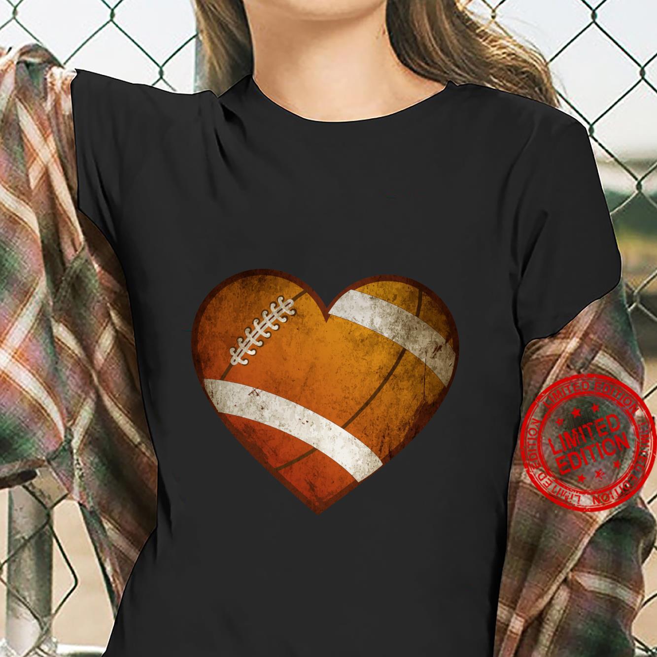 Fußball Geschenke Männer Frauen Ich liebe Fußball Herz Ball Langarmshirt Shirt ladies tee