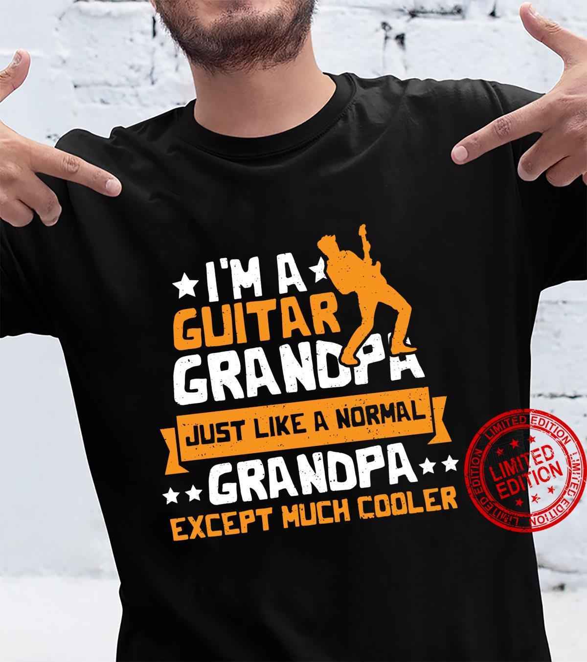 Gitarre I'm A Guitar Grandpa Opa Sprüche Langarmshirt Shirt