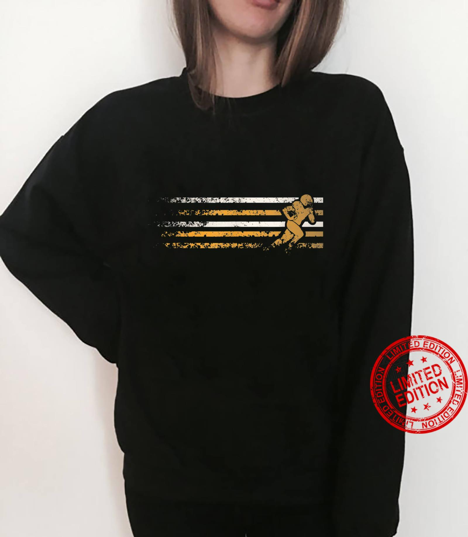 Gold and White running football player Shirt sweater