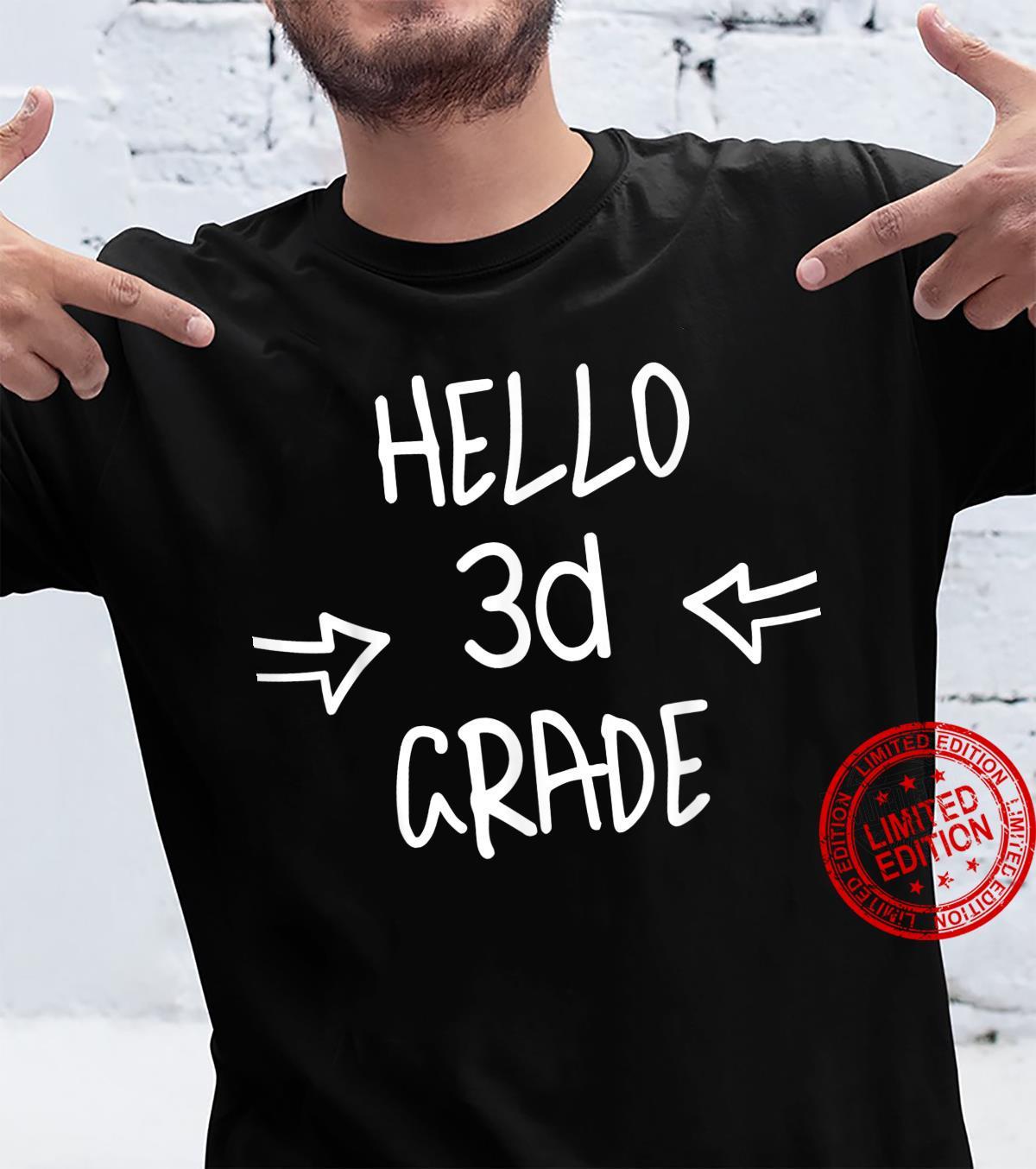 Hello 3d Grade Shirt