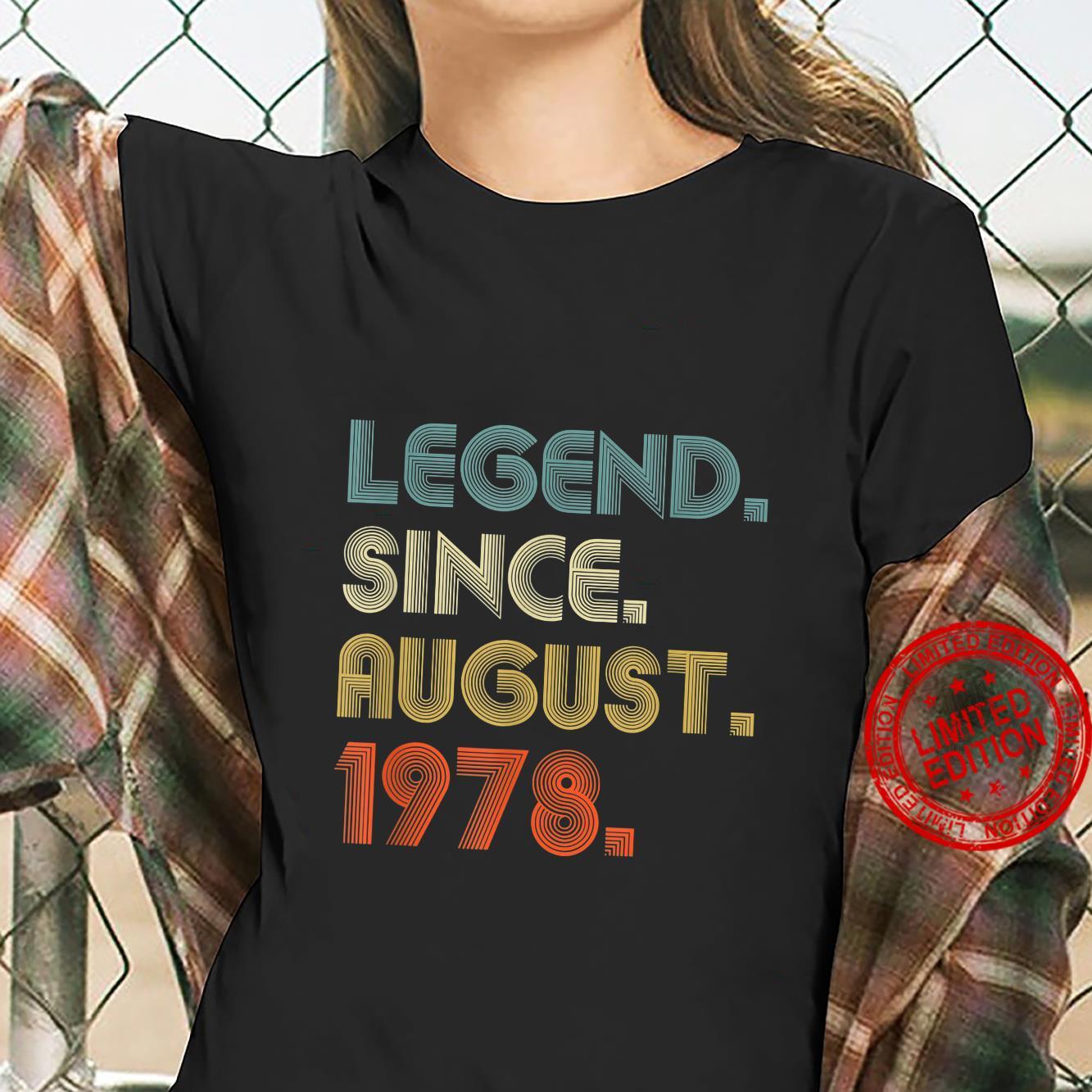 Legend Since August 1978 Vintage 43rd Birthday Shirt ladies tee