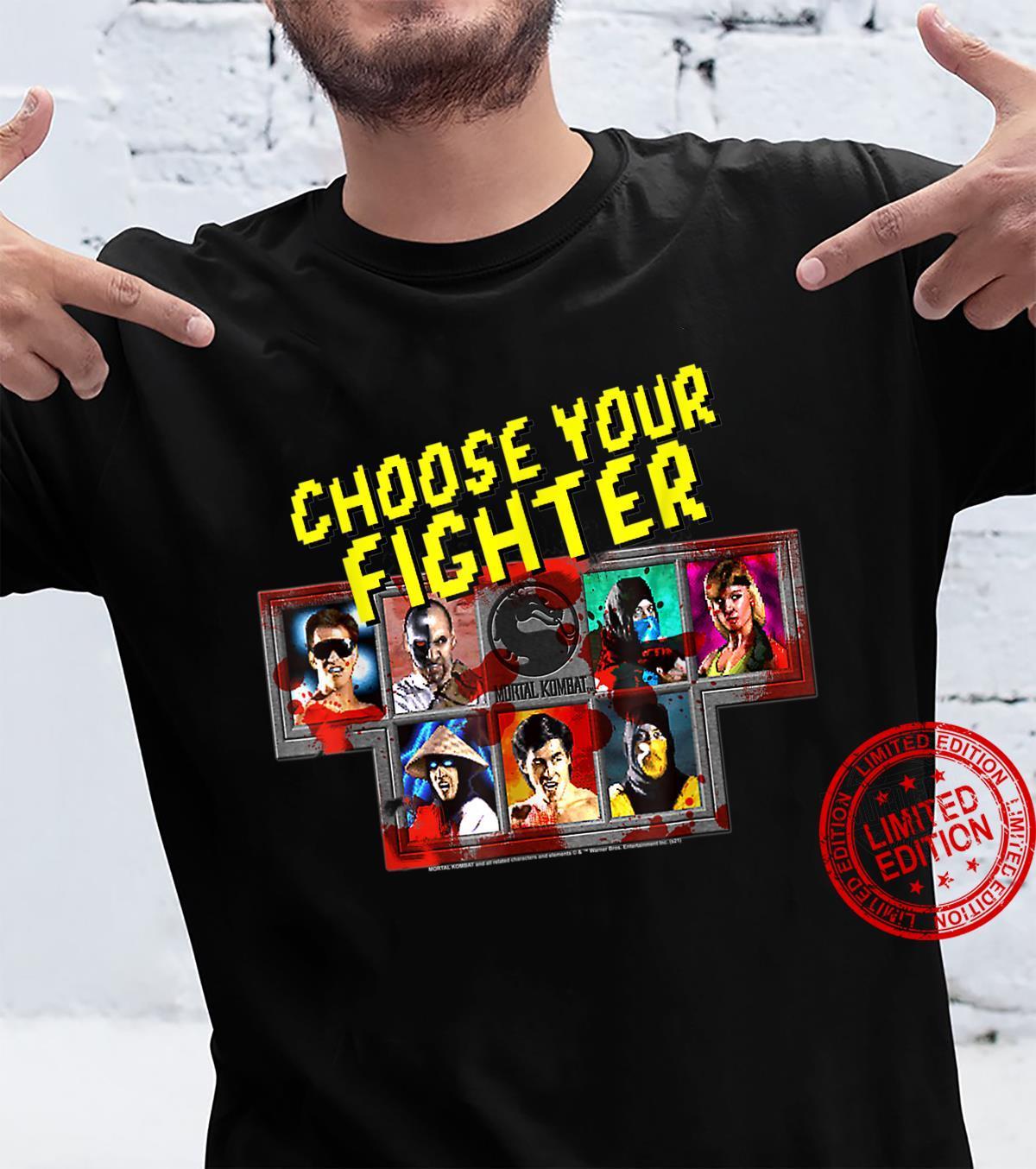Mortal Kom.Bat Klas.Sic Choose Your Fighter Shirt