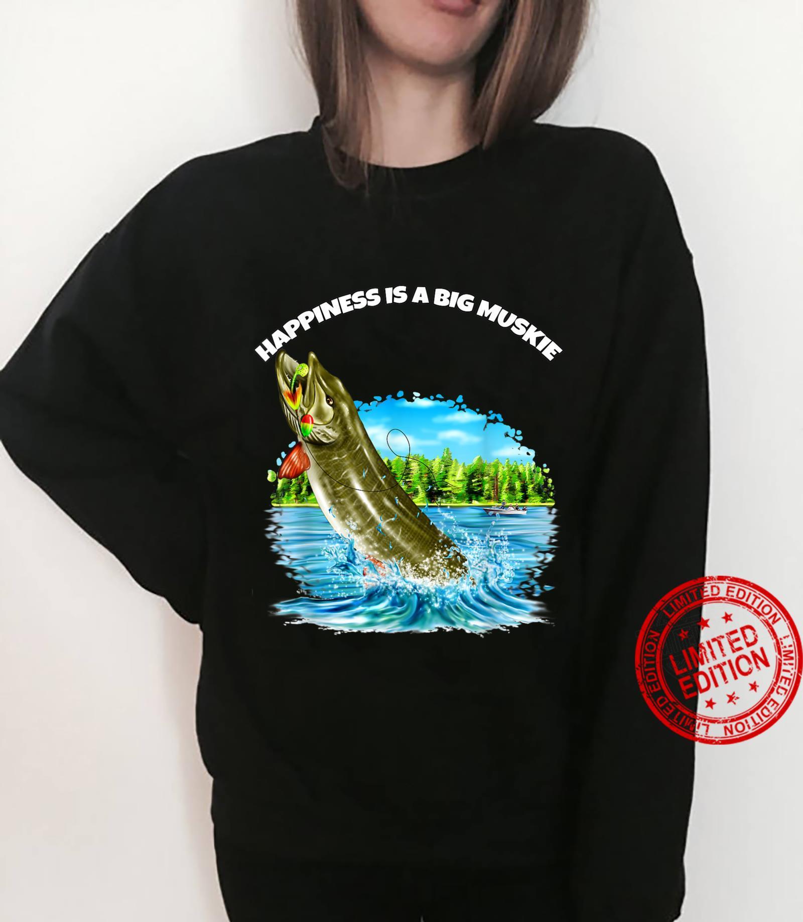 Muskie Fisherman Fishing Happiness Is A Big Muskie Shirt sweater