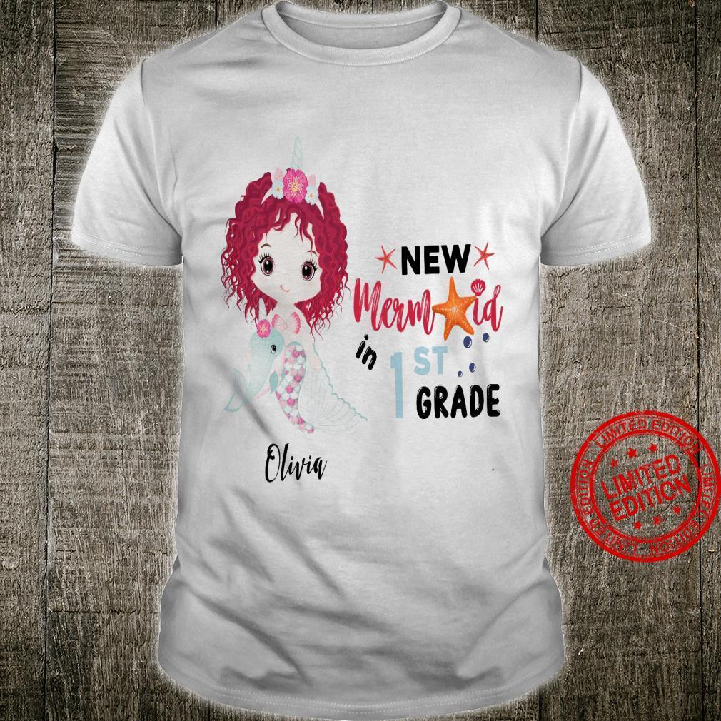 New Mermaid In 1st Grade Olivia Shirt