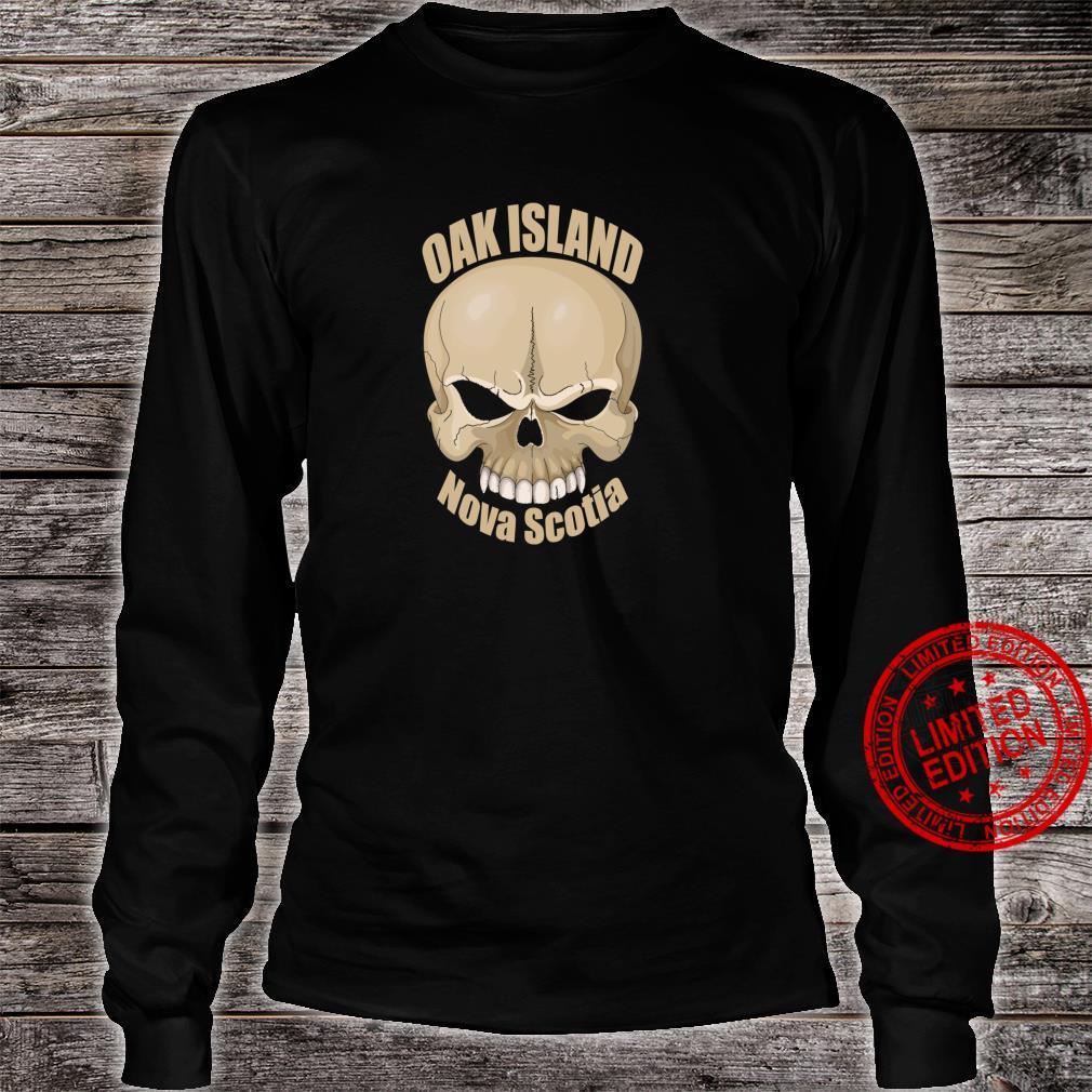 Oak Island Treasure Hunters Skull Nova Scotia Mystery Shirt long sleeved
