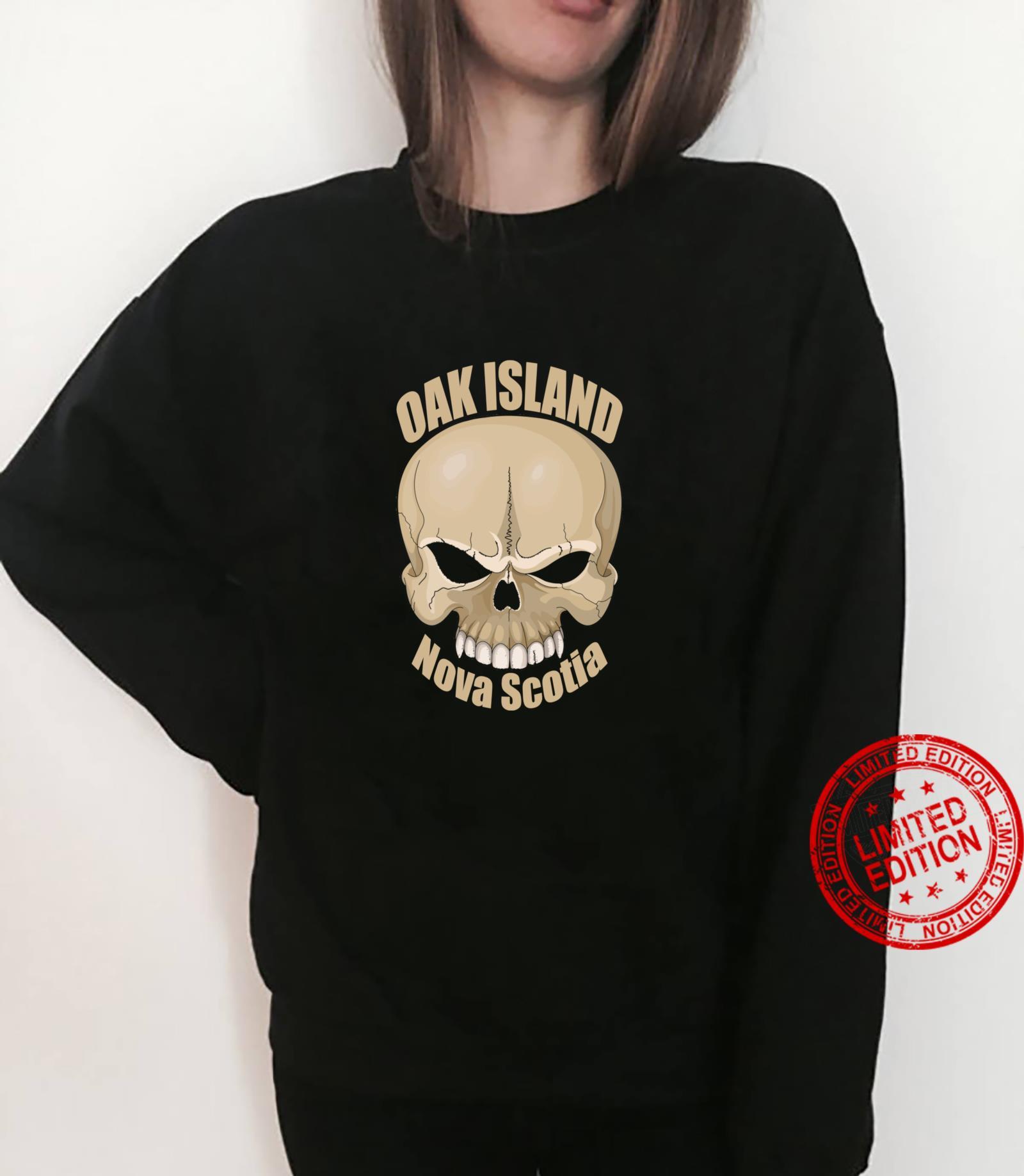 Oak Island Treasure Hunters Skull Nova Scotia Mystery Shirt sweater