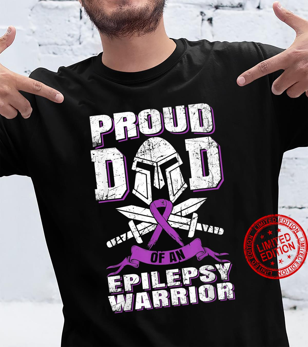 Proud Dad Of An Epilepsy Warrior Disease Supporter Awareness Shirt