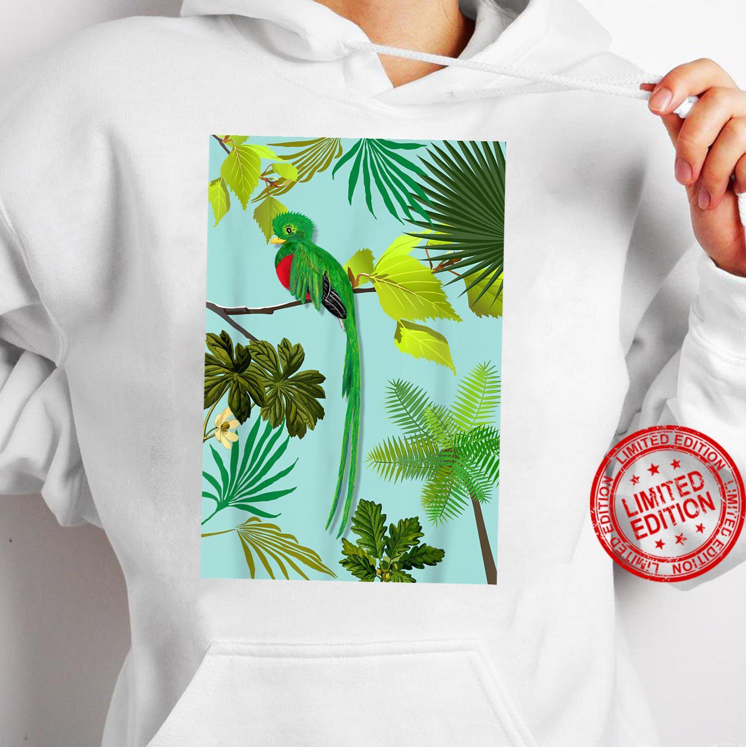 Quetzal Endangered Bird Guatemala Paradises Shirt hoodie