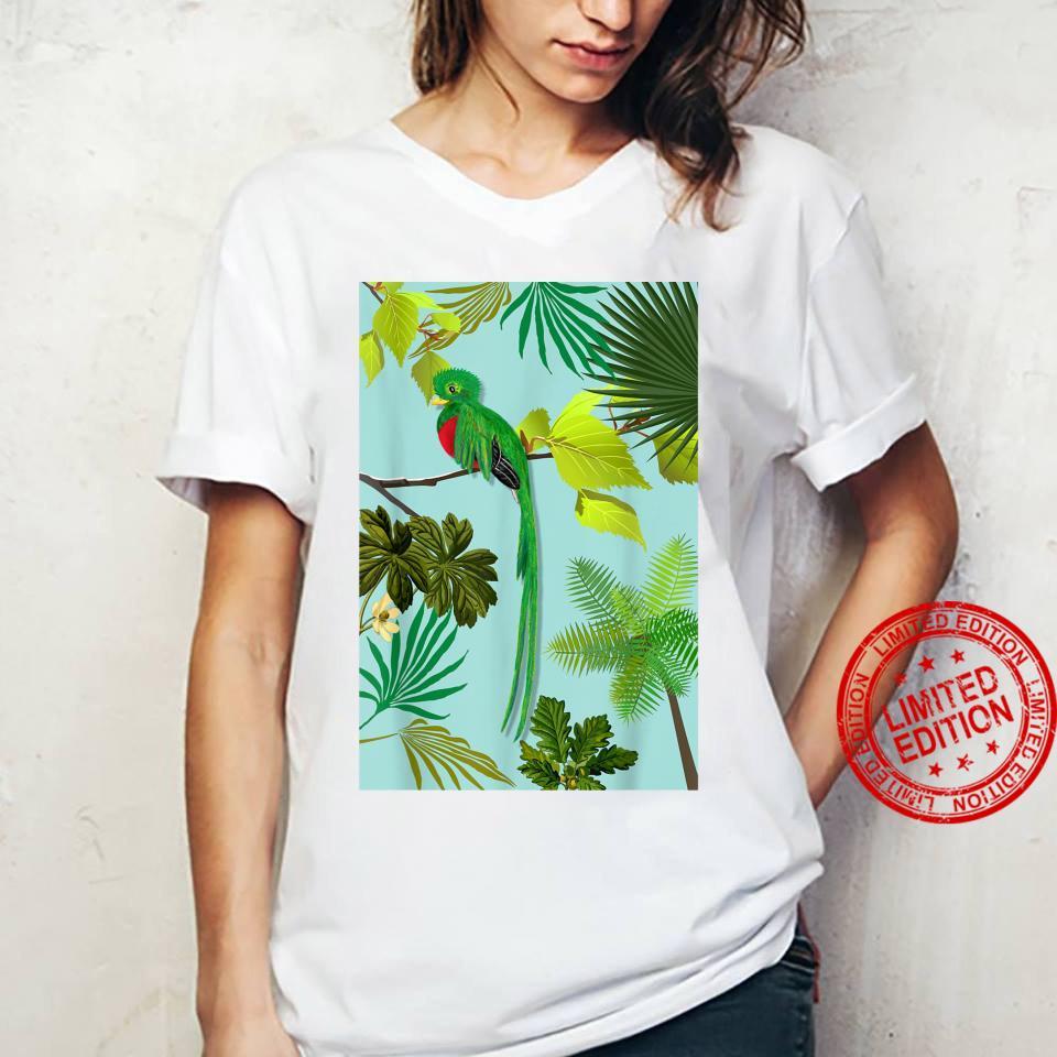 Quetzal Endangered Bird Guatemala Paradises Shirt ladies tee