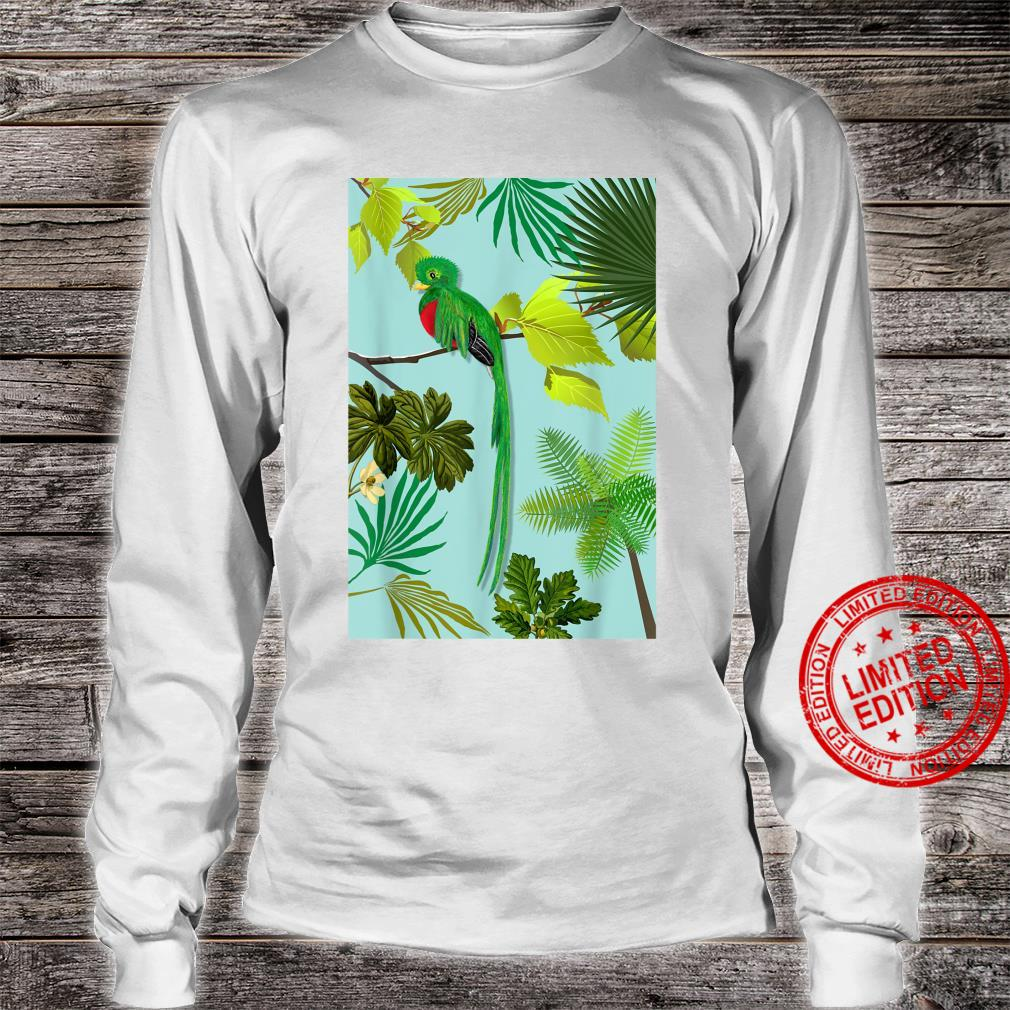 Quetzal Endangered Bird Guatemala Paradises Shirt long sleeved