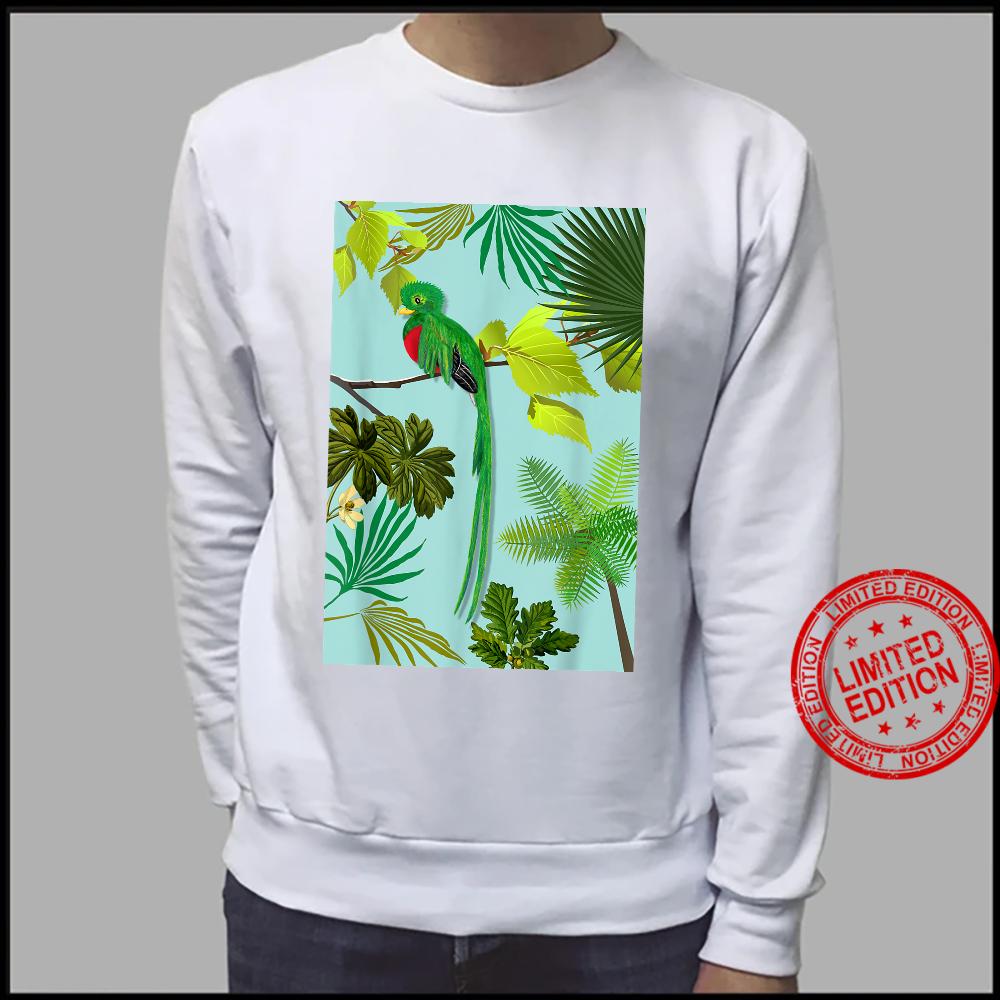 Quetzal Endangered Bird Guatemala Paradises Shirt sweater