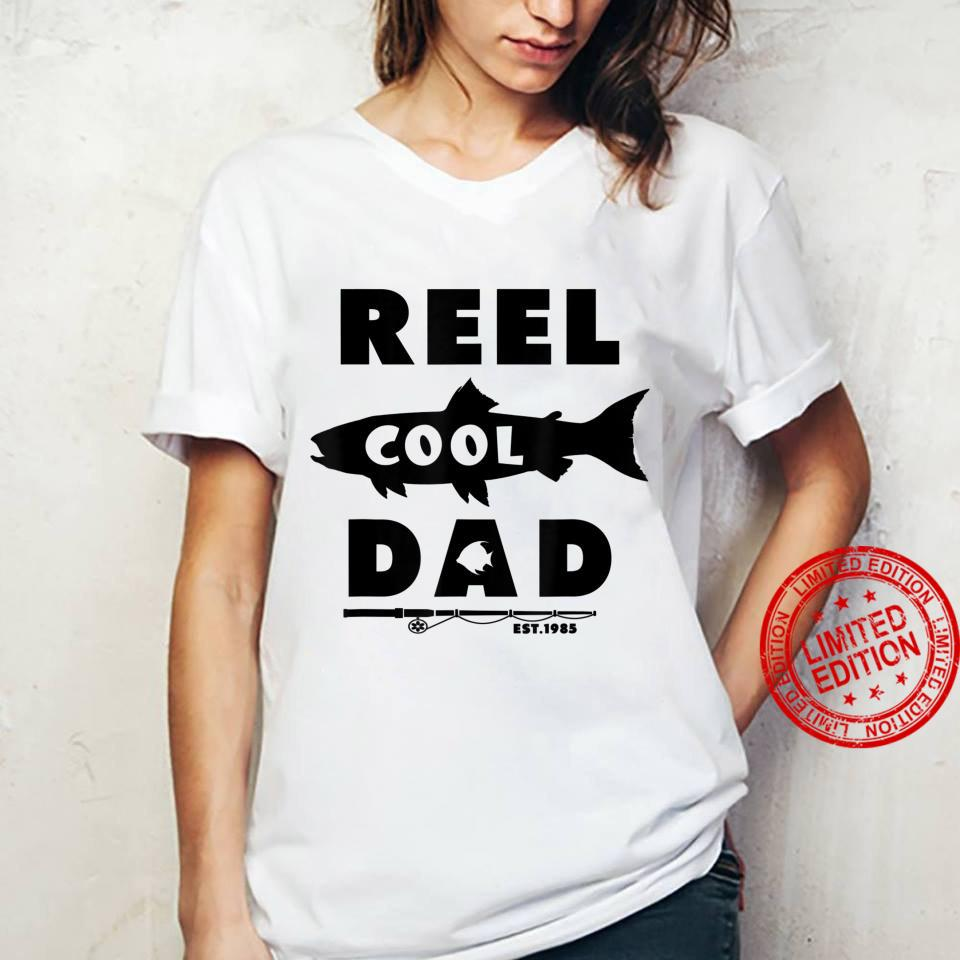 Reel Cool Dad Est 1985, Fishing Dad, Father's Day Shirt ladies tee