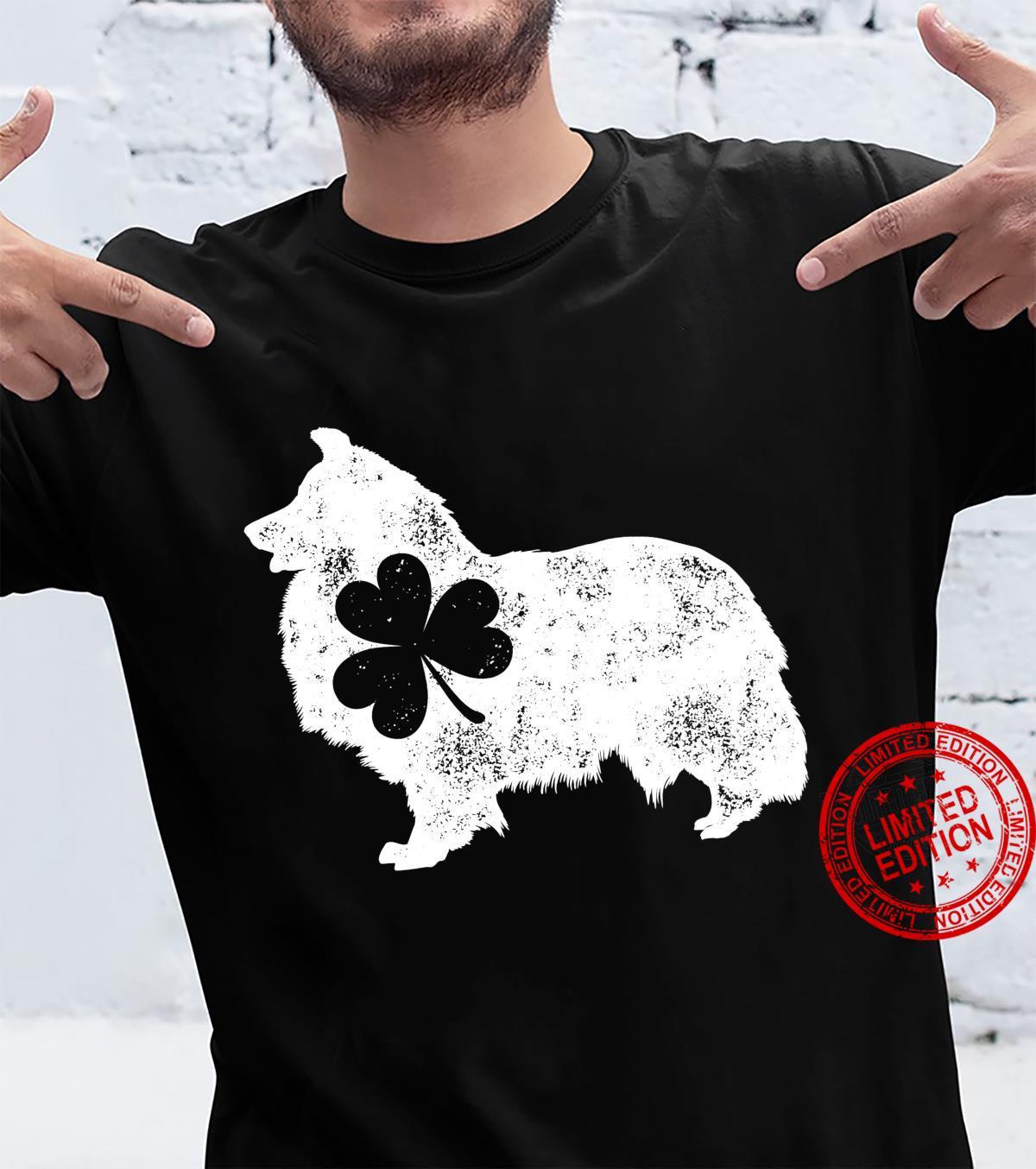 Shetland Sheepdog Sheltie St Patricks Day Shamrock Dog Shirt