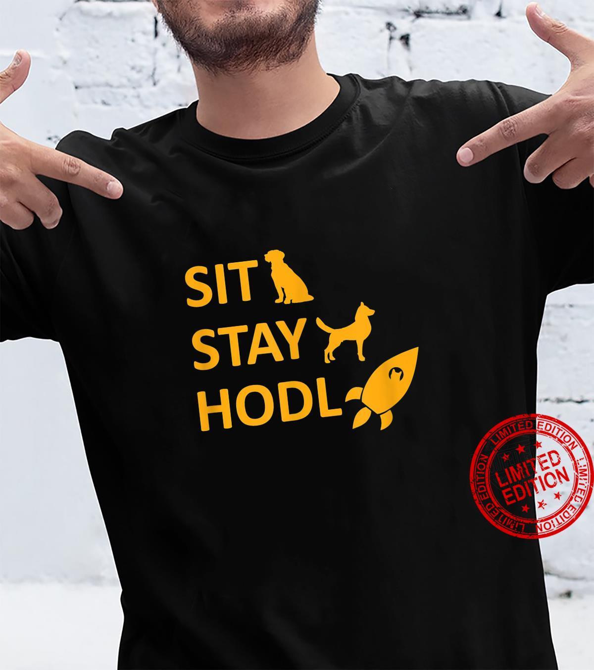 Sit Stay HODL Dogecoin Crypto Shiba Inu Shirt
