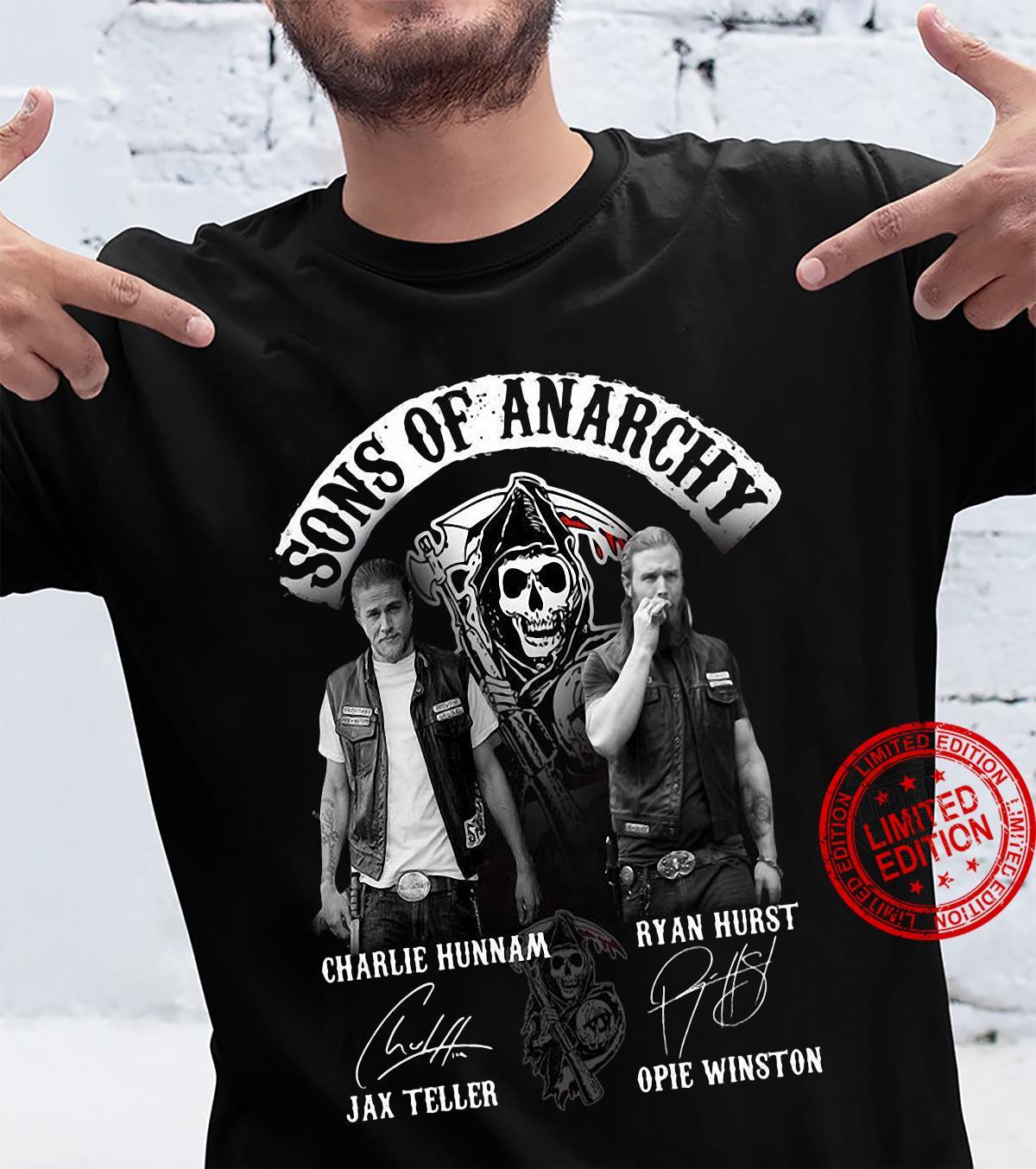 Sons Of Anarchy Charlie Hunnam Jax Teller Ryan Hurst Opie Winston Shirt