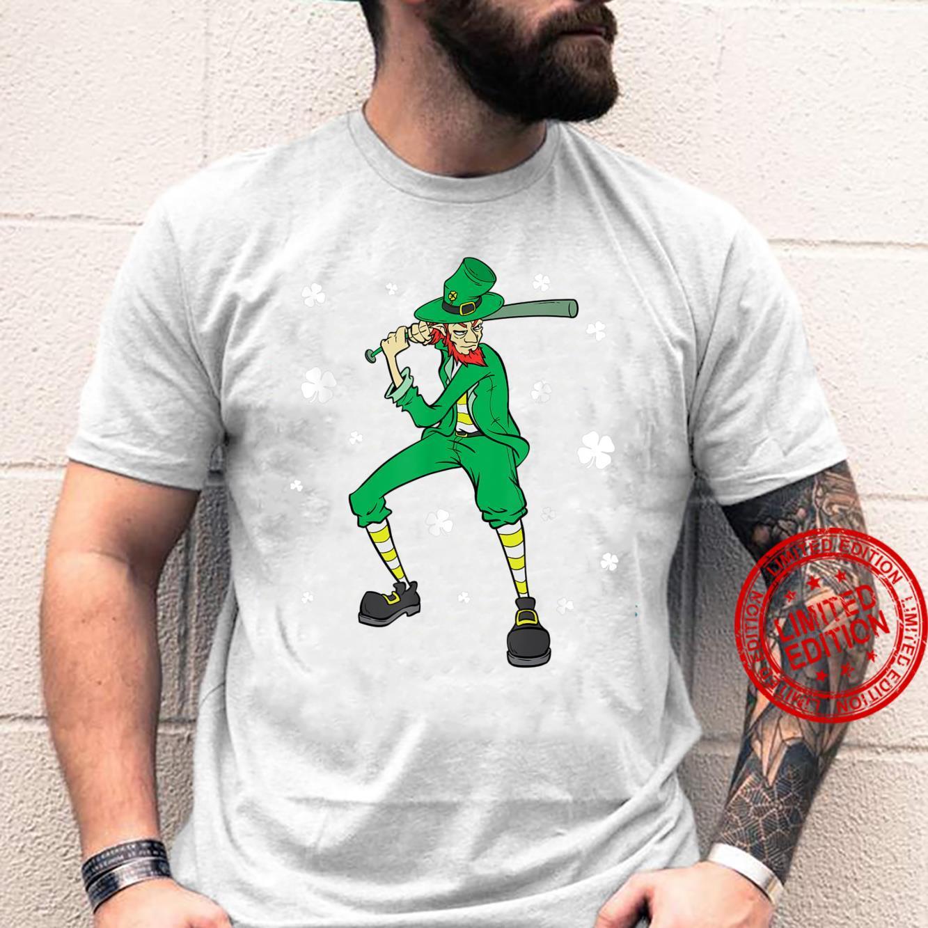 St Patrick's Day Baseball Player Leprechaun Shirt