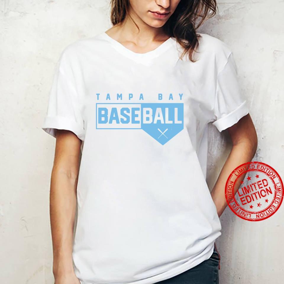 Tampa Bay Baseball Classic Home Plate Design Shirt ladies tee