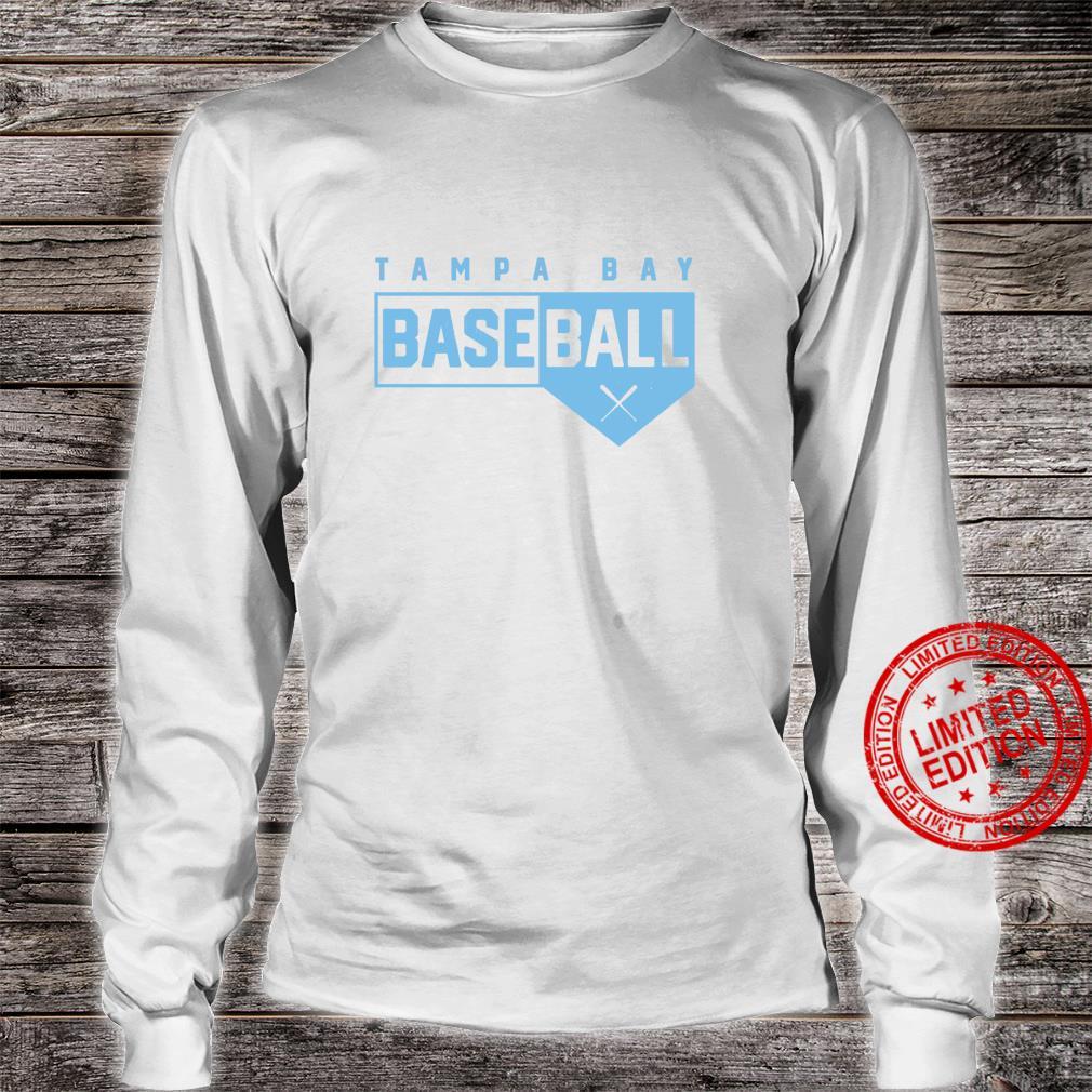 Tampa Bay Baseball Classic Home Plate Design Shirt long sleeved