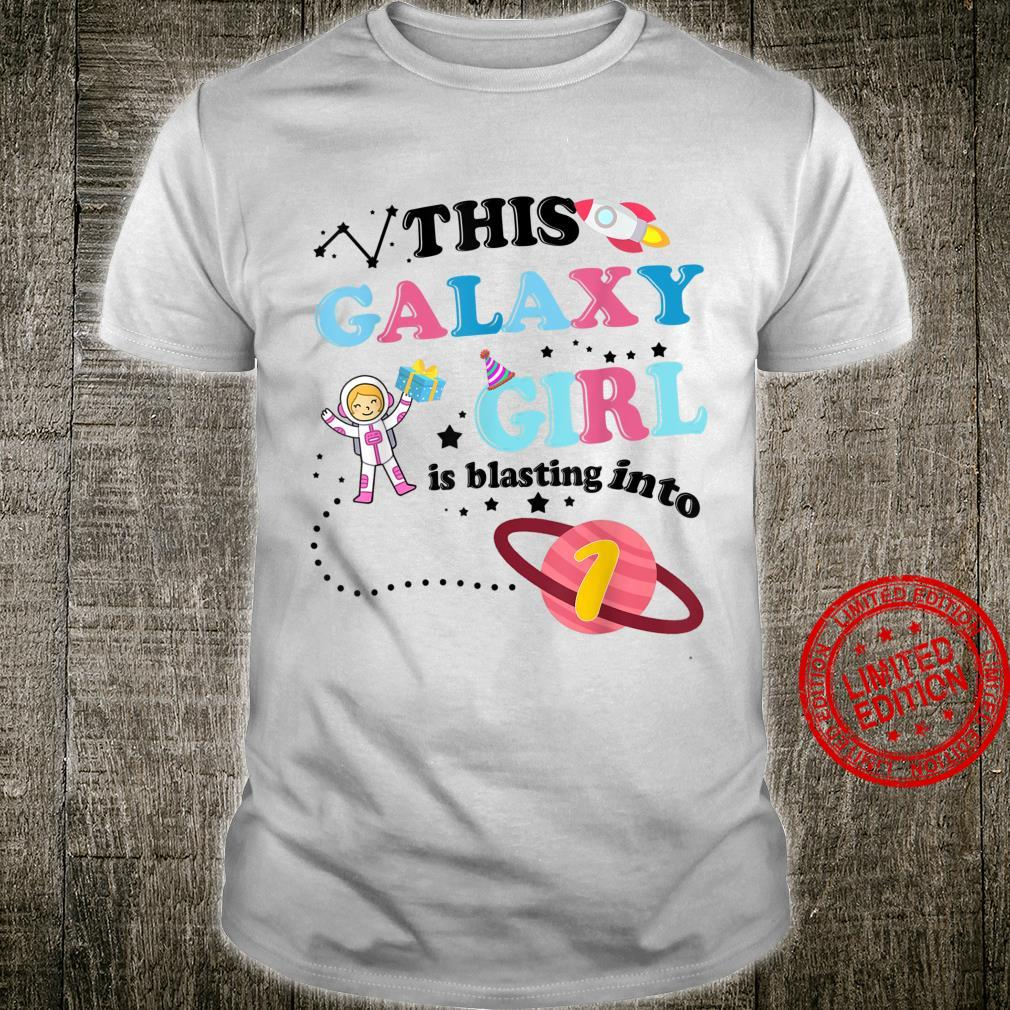 This Astronaut Space Galaxy Rocket Girl is Blasting into 7 Shirt