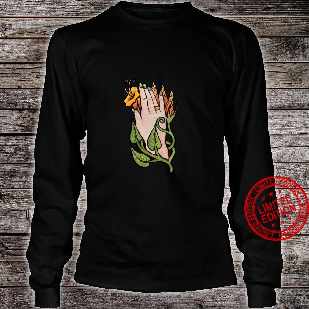 Trumpet Flower Hand Shirt long sleeved