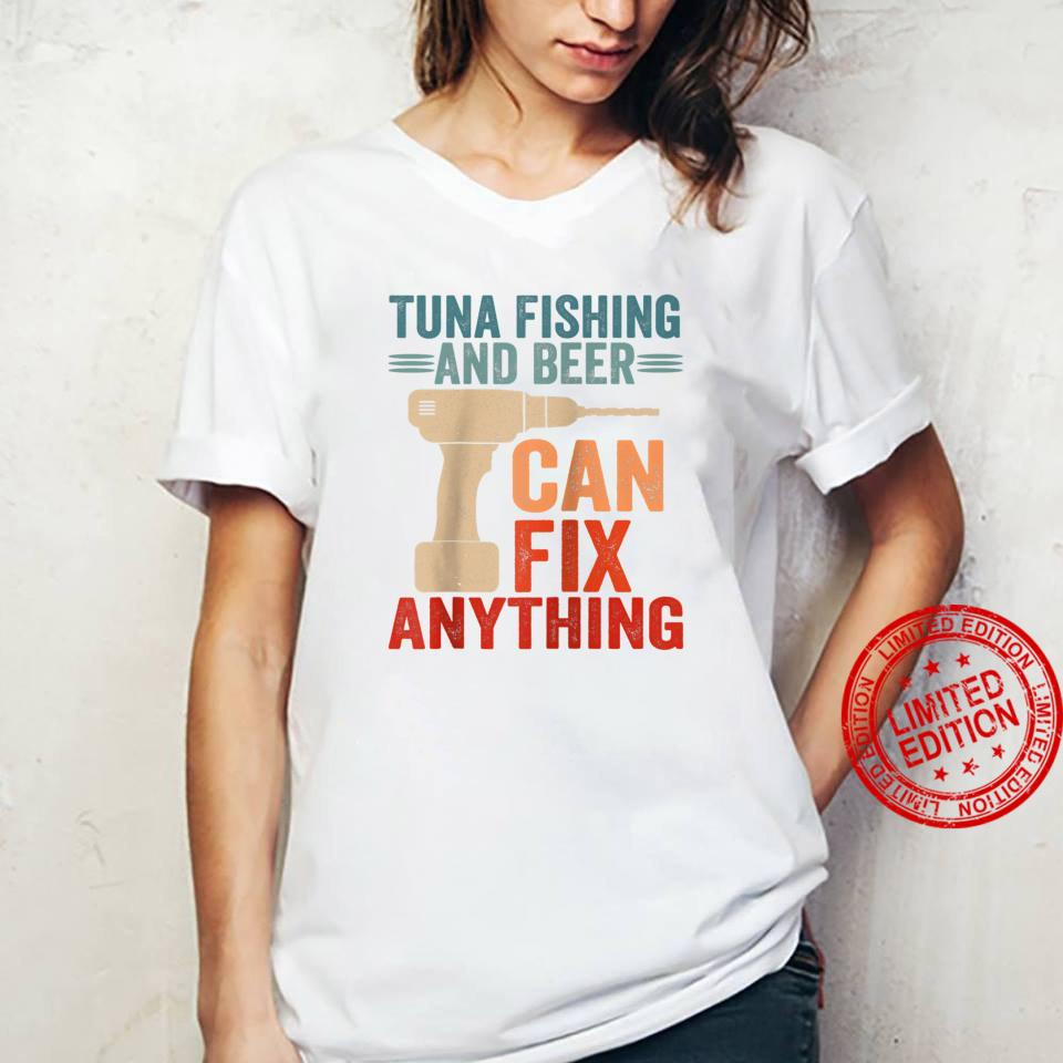 Tuna Fishing And Beer Can Fix Anything Shirt ladies tee