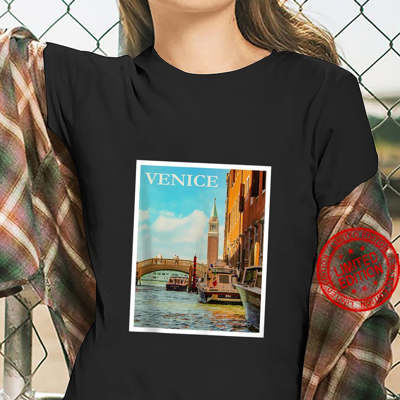 Venice Venetian Canals Gondola Boats Italy Veneto Shirt ladies tee