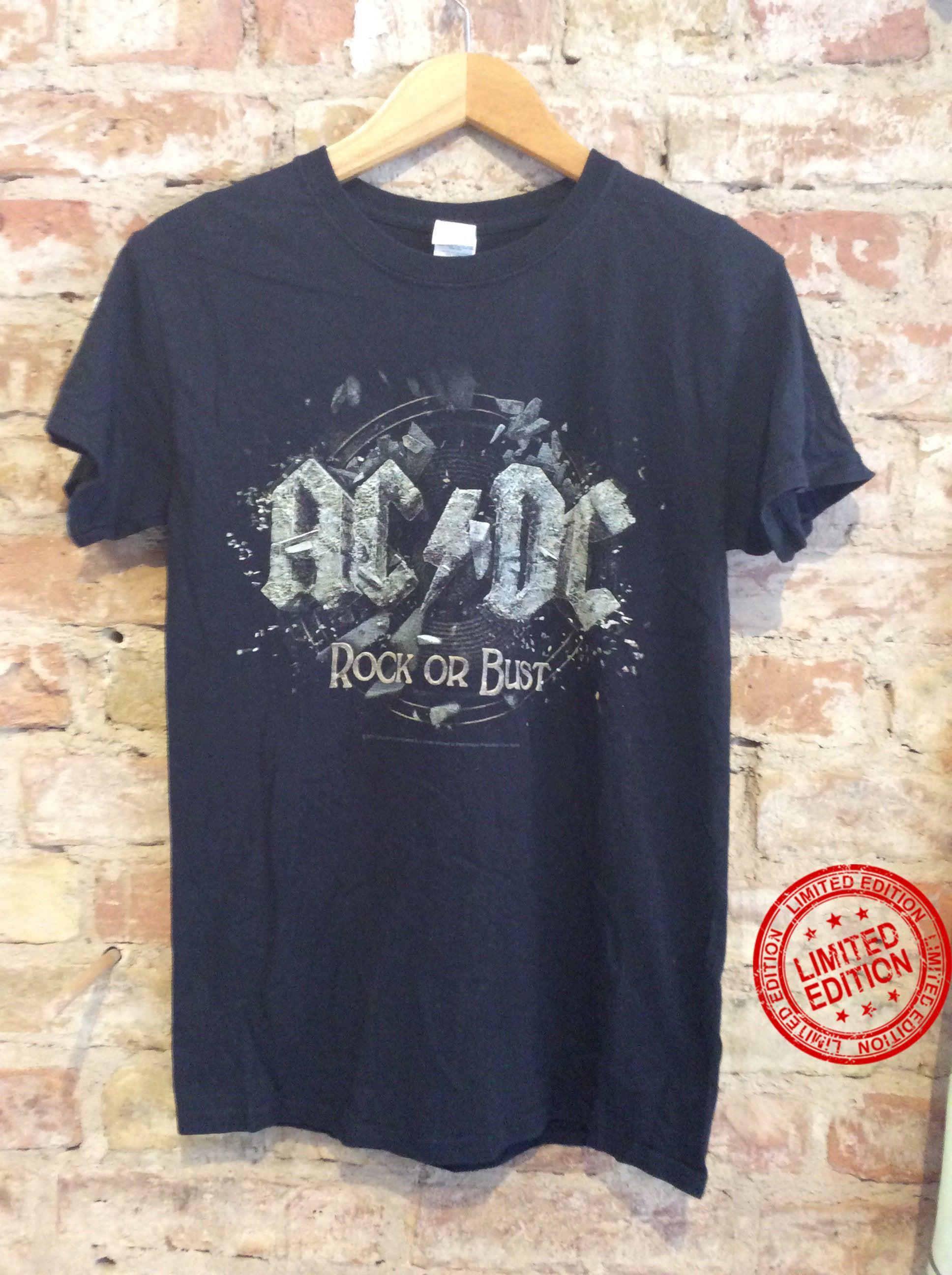 Vintage ACDC Rock Or Bust Shirt
