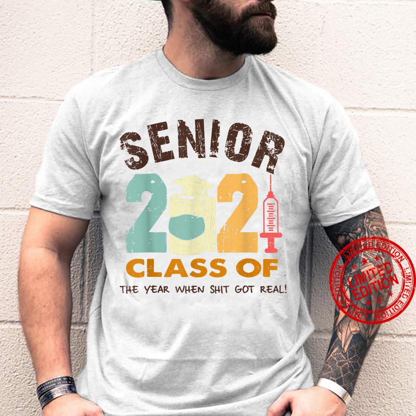 Vintage Senior 2021 Graduation Class Of 2021 Face Mask Shirt