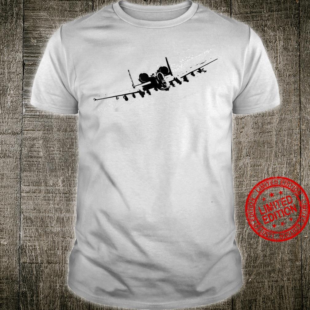 Warthog A10 Thunderbolt Military Aircraft Shirt