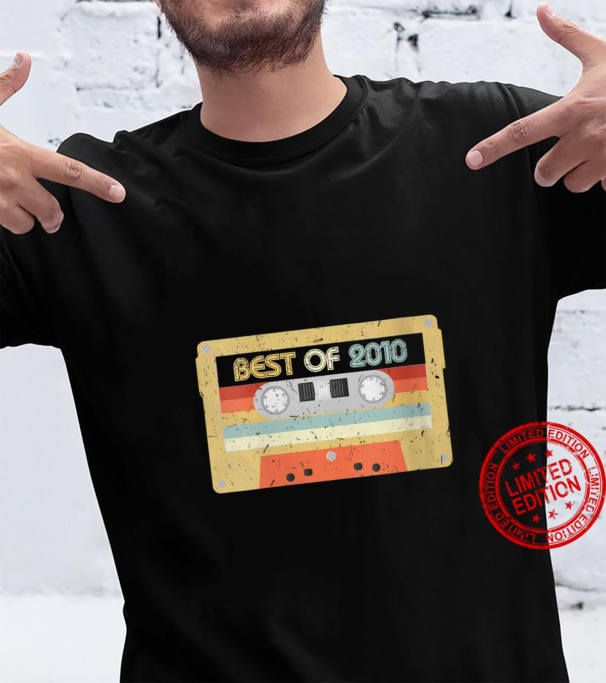 Womens Best Of 2010 11th Birthday Retro Vintage Mixtape Cassette Shirt