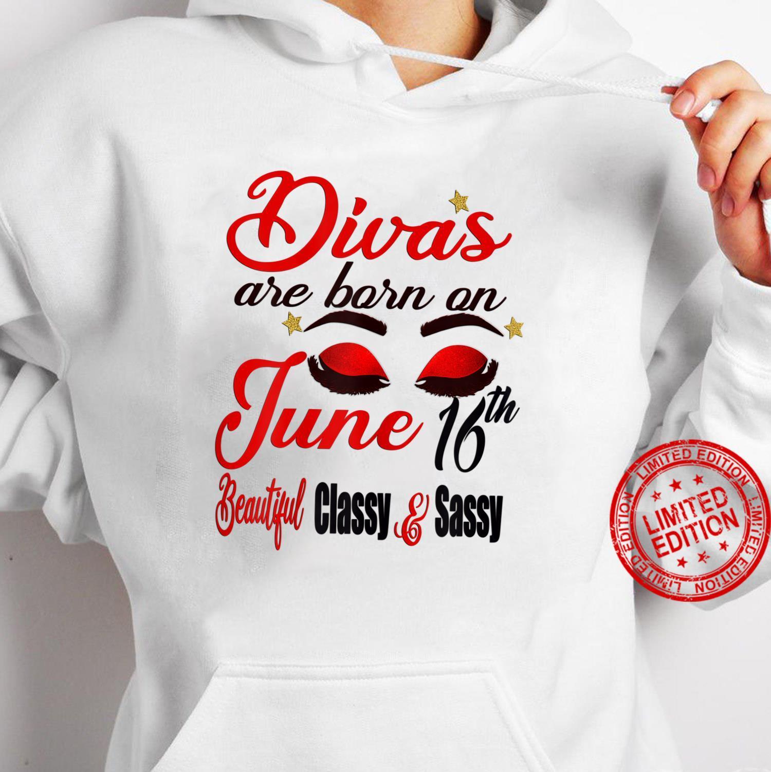 Womens Divas Are Born On June 16th Gemini Girl Astrology June Shirt hoodie