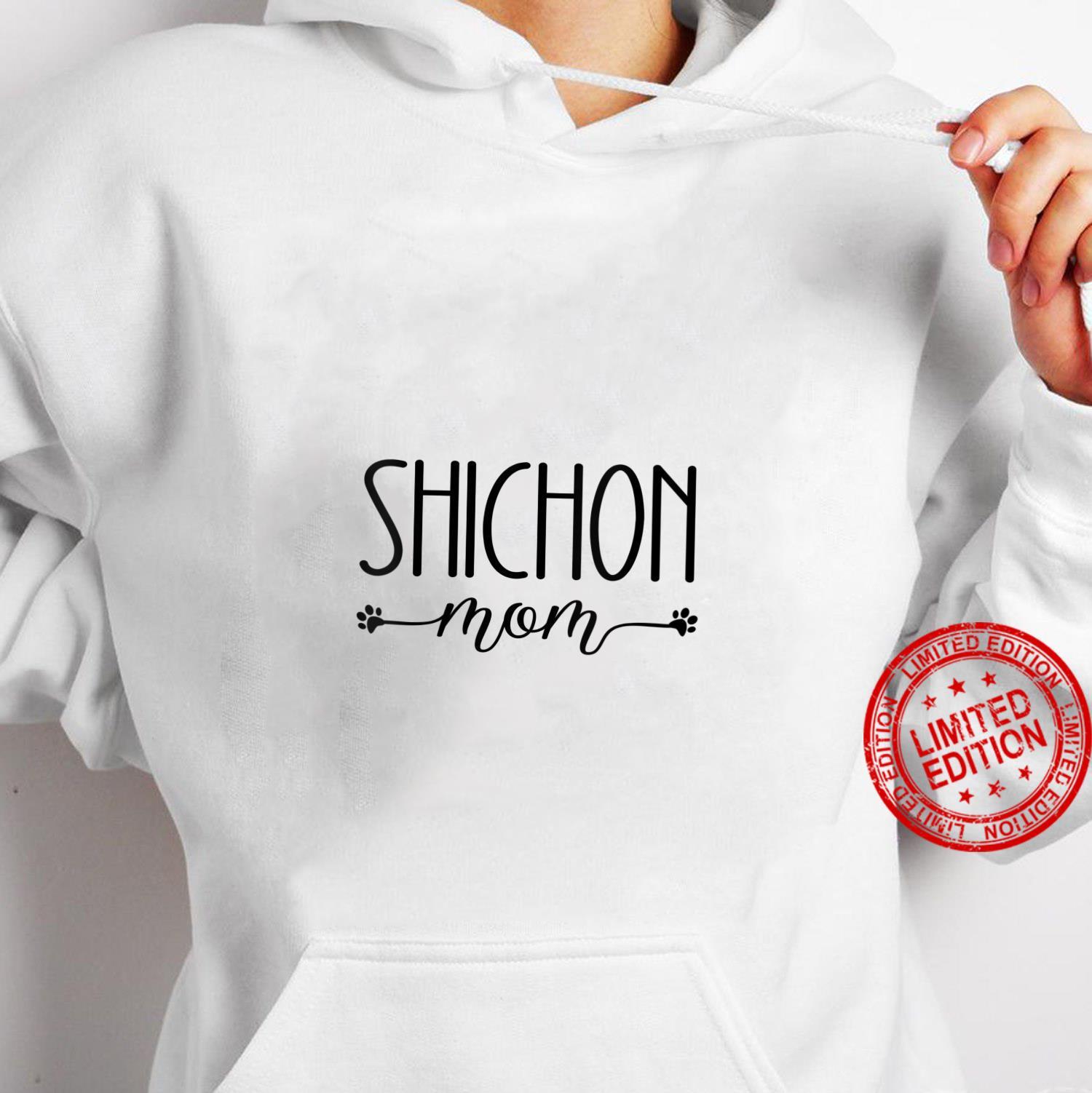 Womens Dog Shichon Mom Shirt hoodie
