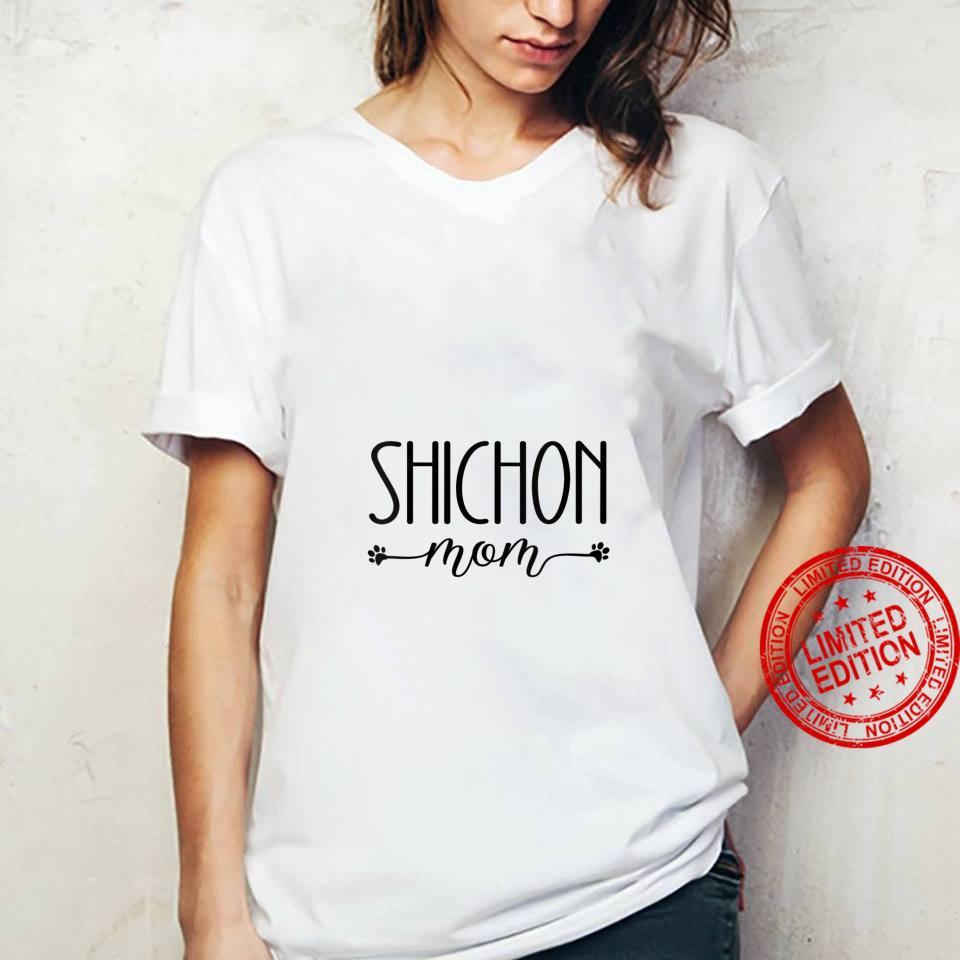 Womens Dog Shichon Mom Shirt ladies tee