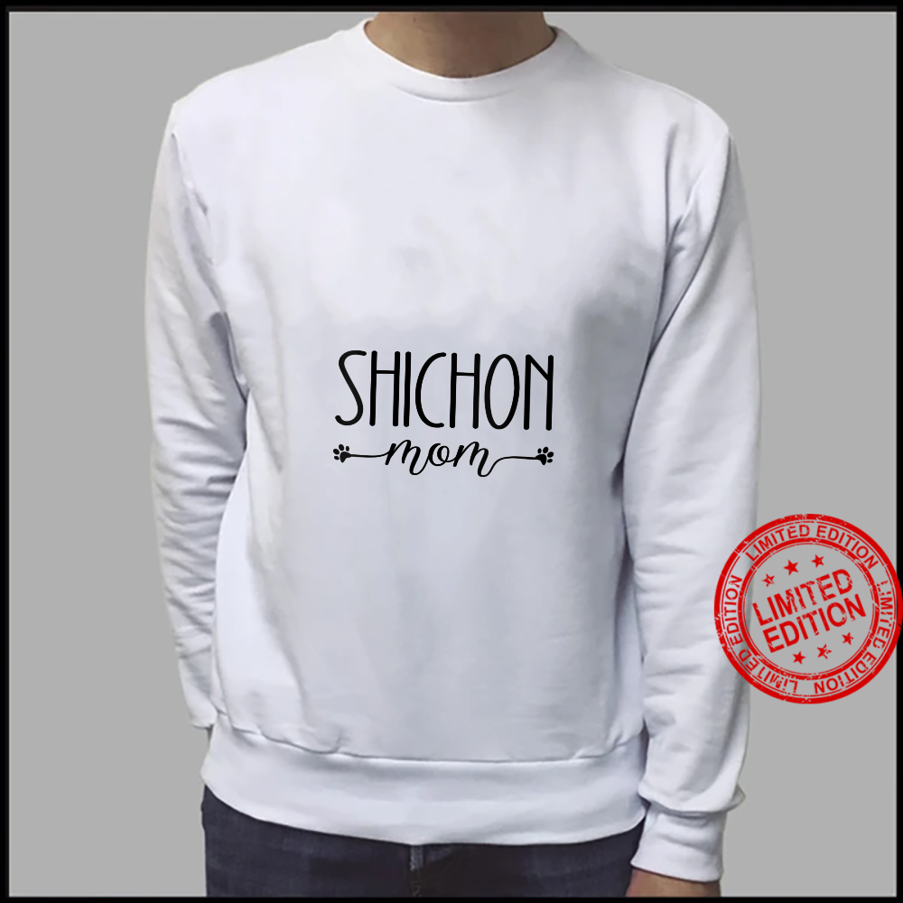 Womens Dog Shichon Mom Shirt sweater