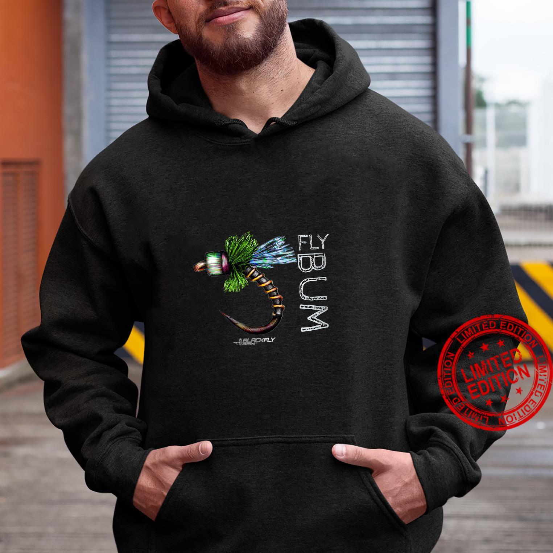 Womens Fly Fishing Apparel Caddis Midge Flies by Black Fly Shirt hoodie