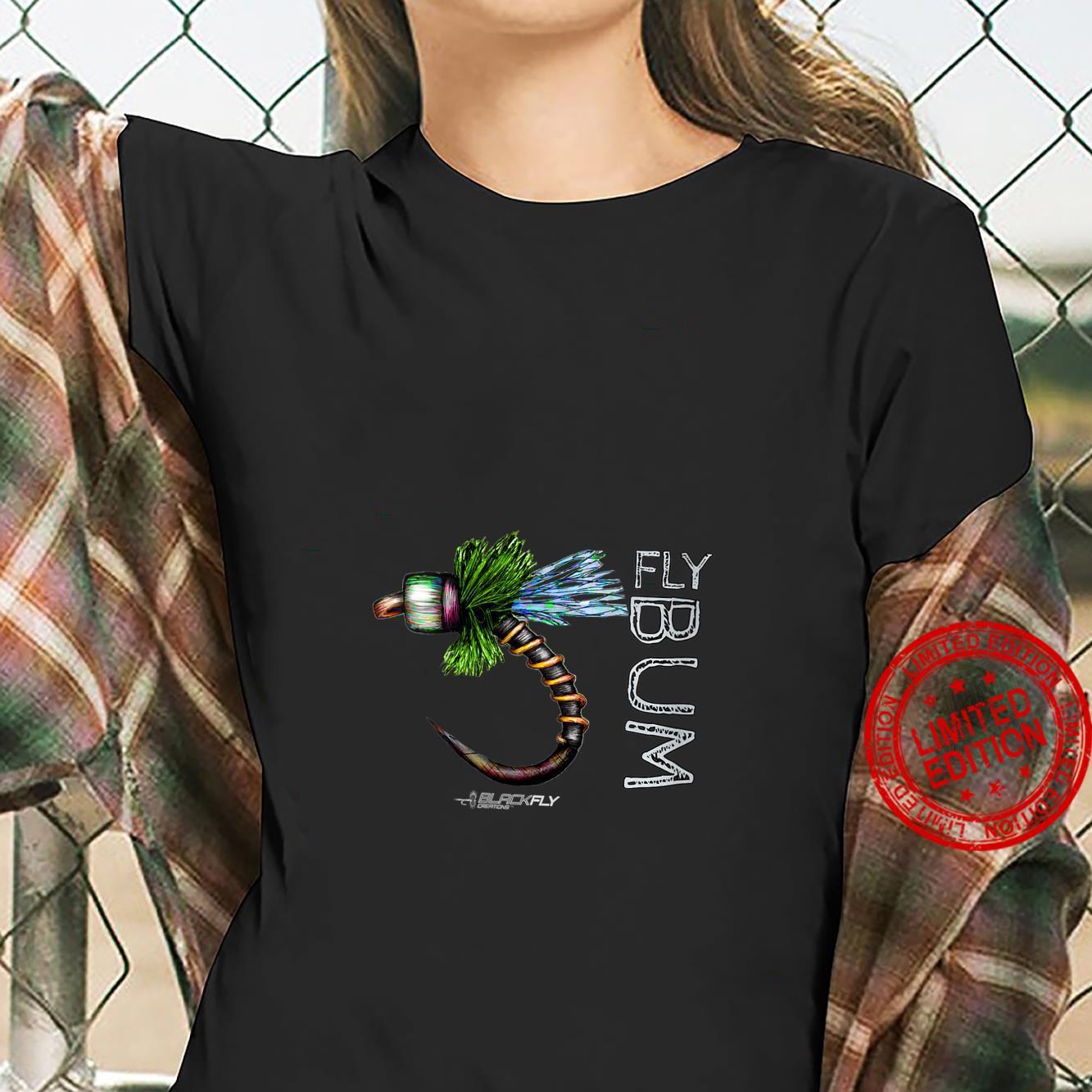 Womens Fly Fishing Apparel Caddis Midge Flies by Black Fly Shirt ladies tee