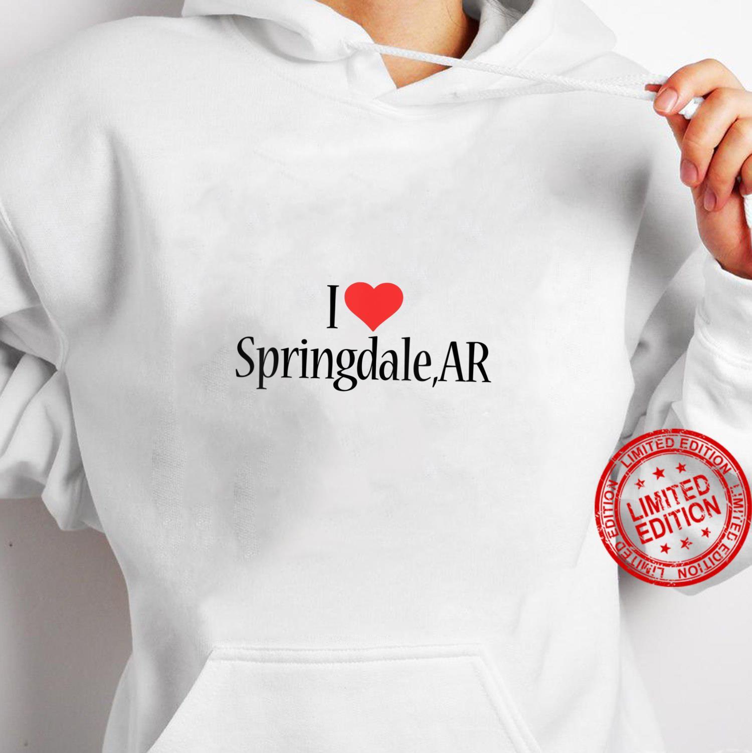 Womens I Love Springdale ARKANSAS Heart City State Combination Shirt hoodie