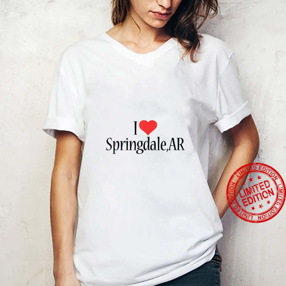 Womens I Love Springdale ARKANSAS Heart City State Combination Shirt ladies tee