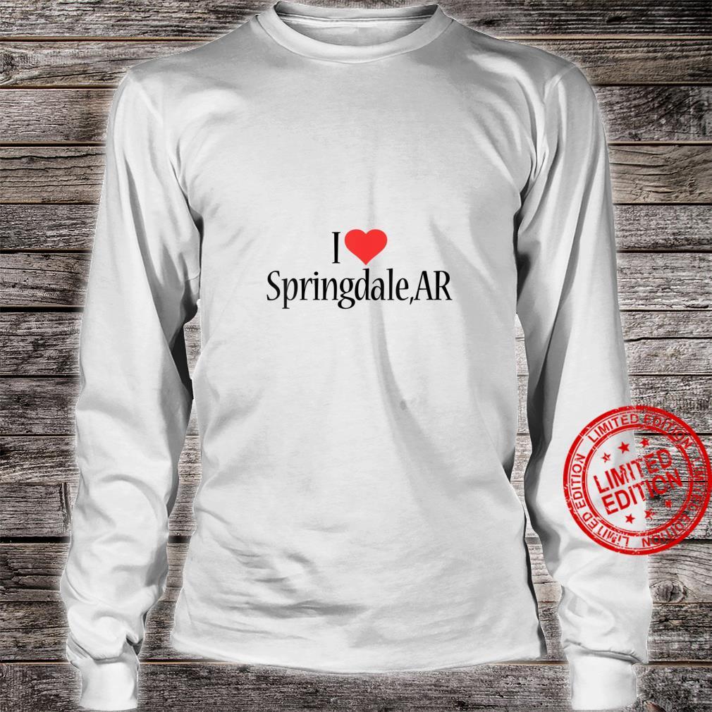 Womens I Love Springdale ARKANSAS Heart City State Combination Shirt long sleeved