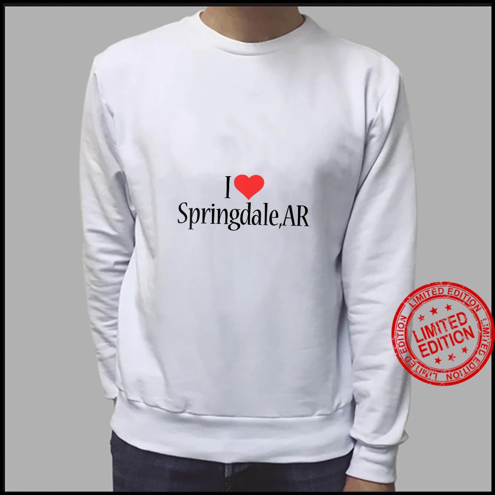Womens I Love Springdale ARKANSAS Heart City State Combination Shirt sweater
