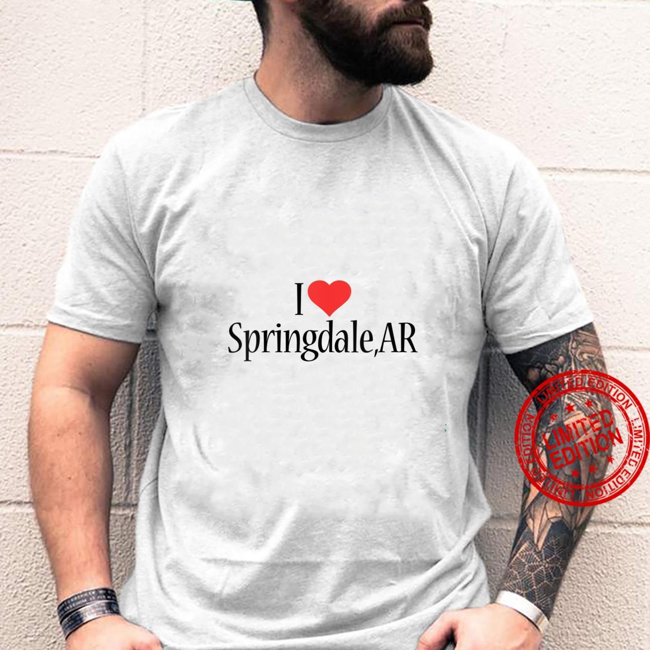 Womens I Love Springdale ARKANSAS Heart City State Combination Shirt