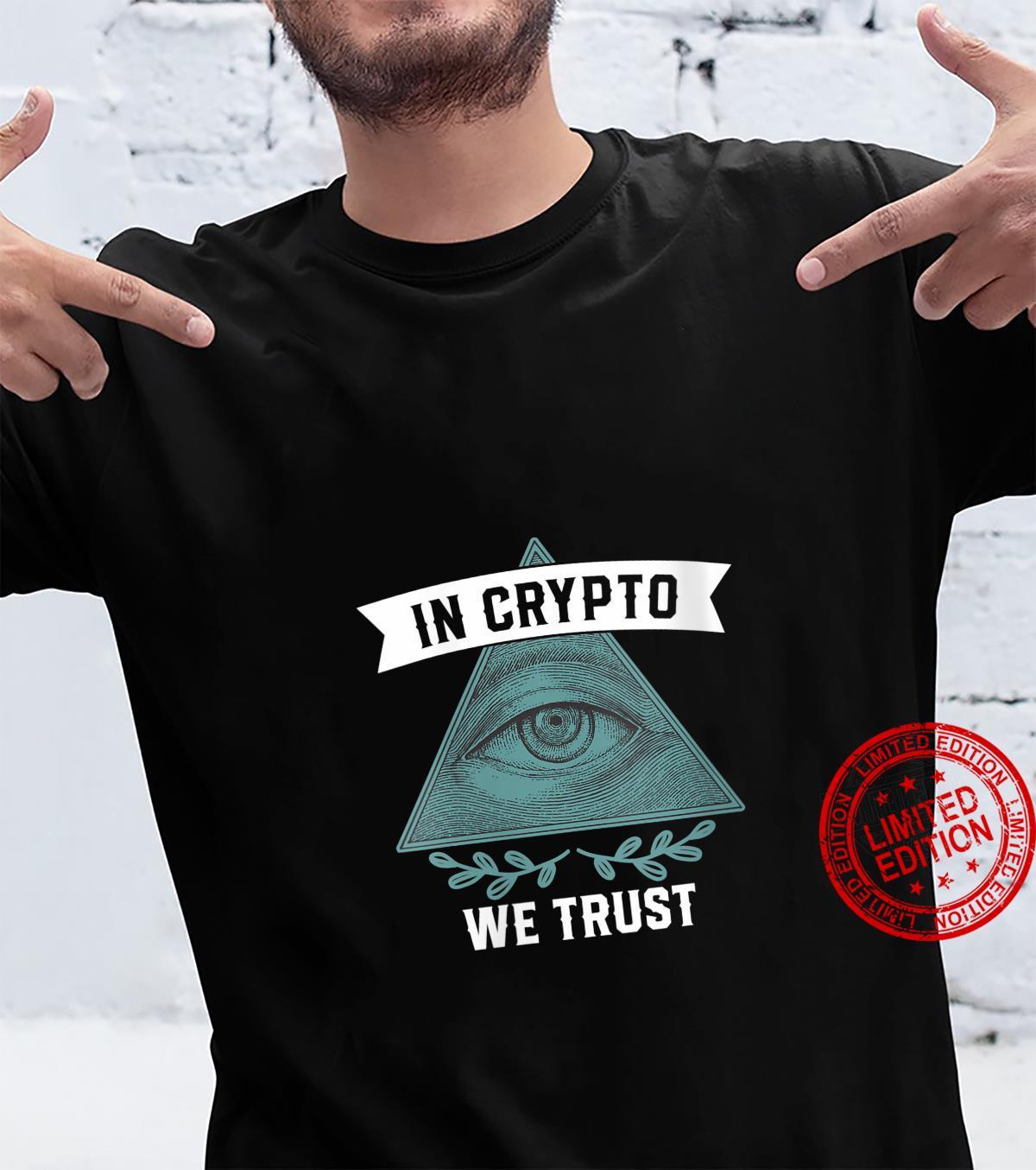 Womens In Crypto We Trust Bitcoin Shirt
