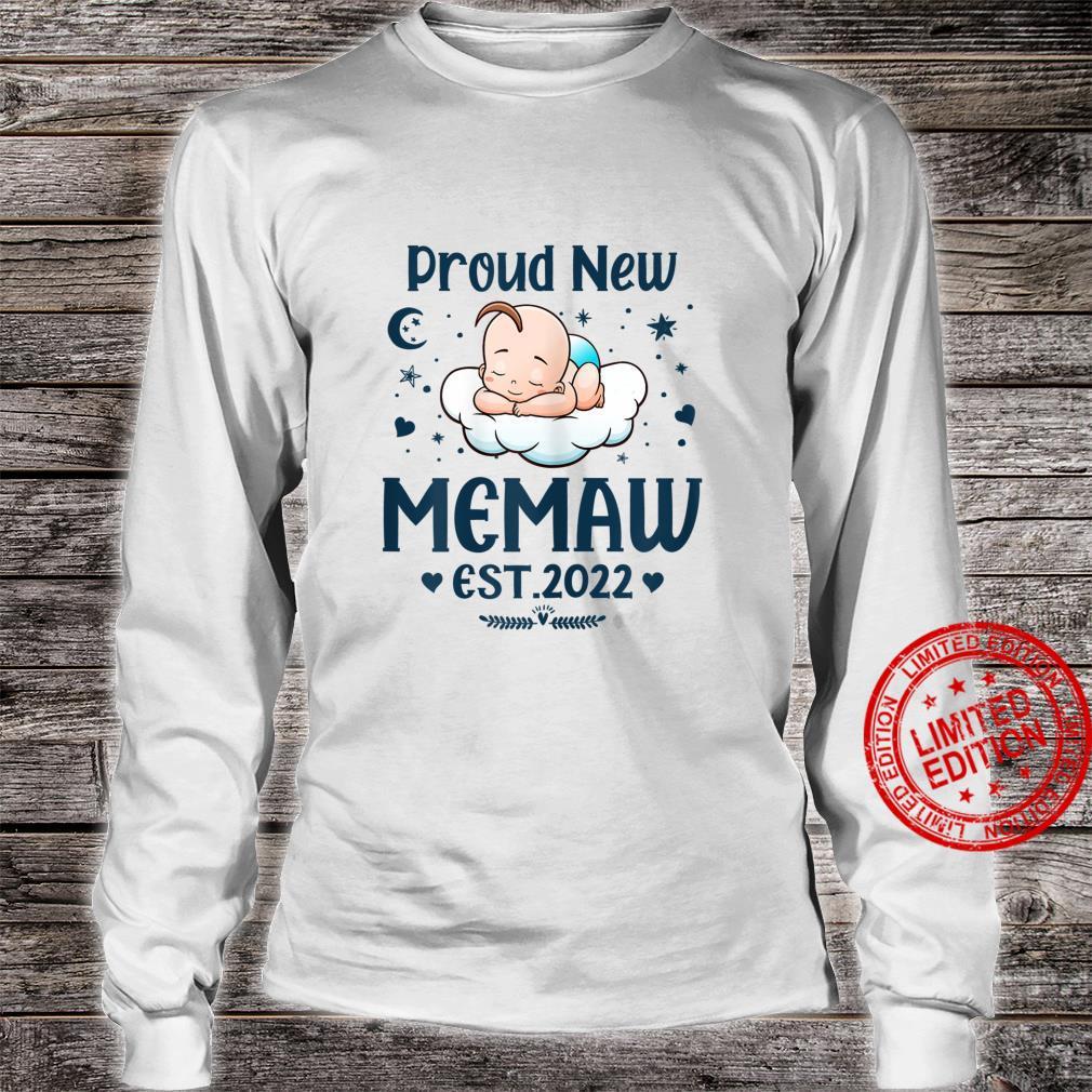 Womens Memaw Proud New Memaw EST 2022 Mother's day Shirt long sleeved