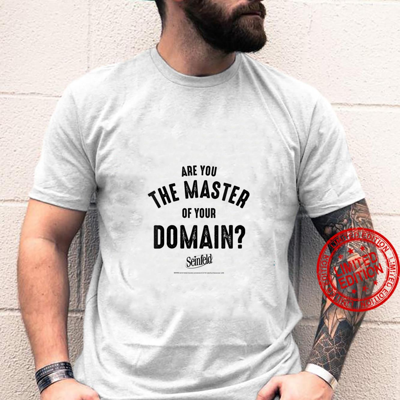 Womens Seinfeld Are You The Master Of Your Own Domain Shirt