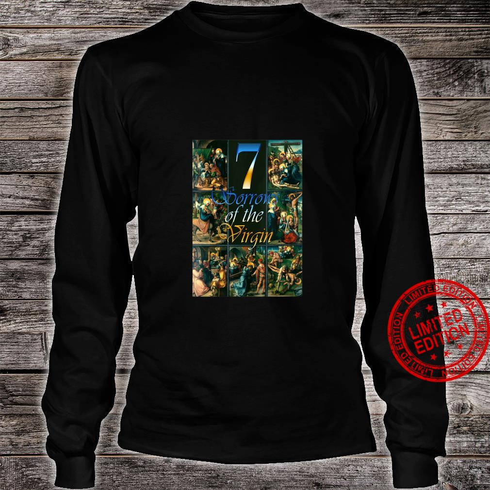 Womens Seven Sorrows of Mary Blessed Mother Our Lady of Sorrows Shirt long sleeved